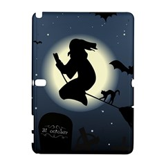 Halloween Card With Witch Vector Clipart Galaxy Note 1 by Nexatart