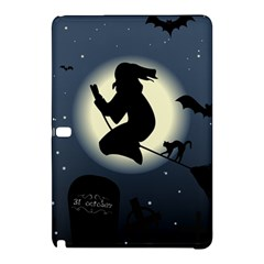 Halloween Card With Witch Vector Clipart Samsung Galaxy Tab Pro 12.2 Hardshell Case by Nexatart
