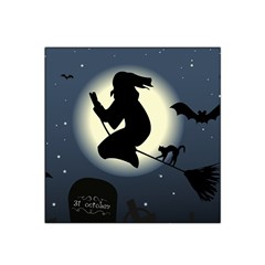 Halloween Card With Witch Vector Clipart Satin Bandana Scarf by Nexatart