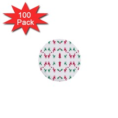 Reindeer Pattern 1  Mini Buttons (100 Pack)  by Nexatart