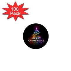 Merry Christmas Abstract 1  Mini Buttons (100 Pack)  by Nexatart