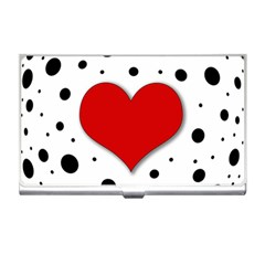 Red Heart Business Card Holders by Valentinaart