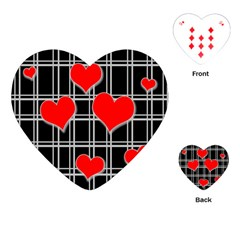 Red Hearts Pattern Playing Cards (heart)  by Valentinaart