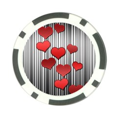Valentines day pattern Poker Chip Card Guard by Valentinaart