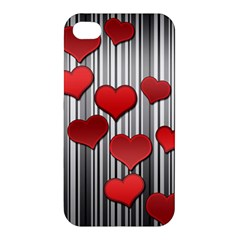 Valentines Day Pattern Apple Iphone 4/4s Premium Hardshell Case by Valentinaart