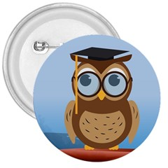 Read Owl Book Owl Glasses Read 3  Buttons by Nexatart