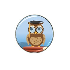 Read Owl Book Owl Glasses Read Hat Clip Ball Marker by Nexatart