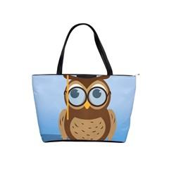 Read Owl Book Owl Glasses Read Shoulder Handbags by Nexatart