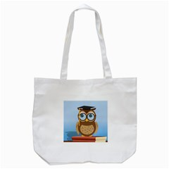 Read Owl Book Owl Glasses Read Tote Bag (white) by Nexatart