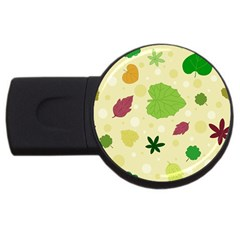 Leaves Pattern USB Flash Drive Round (4 GB)