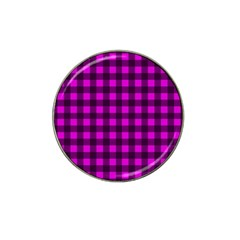 Magenta And Black Plaid Pattern Hat Clip Ball Marker (10 Pack) by Valentinaart