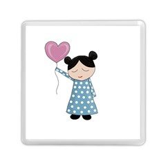 Valentines Day Girl Memory Card Reader (square)  by Valentinaart