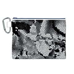 Mosaic Stones Glass Pattern Canvas Cosmetic Bag (l) by Nexatart