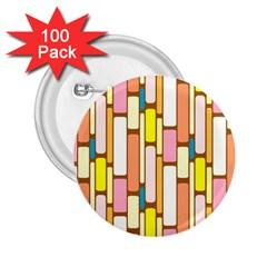 Retro Blocks 2 25  Buttons (100 Pack)
