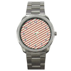 Stripes Sport Metal Watch by Nexatart
