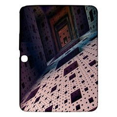 Industry Fractals Geometry Graphic Samsung Galaxy Tab 3 (10.1 ) P5200 Hardshell Case  by Nexatart