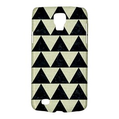 Triangle2 Black Marble & Beige Linen Samsung Galaxy S4 Active (i9295) Hardshell Case by trendistuff