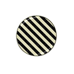 Stripes3 Black Marble & Beige Linen (r) Hat Clip Ball Marker (10 Pack) by trendistuff