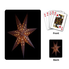 Star Light Decoration Atmosphere Playing Card by Nexatart