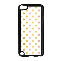 Polka Dots Retro Apple iPod Touch 5 Case (Black) by Nexatart
