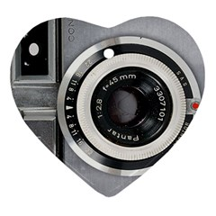 Vintage Camera Ornament (heart) by Nexatart