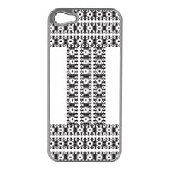 Pattern Background Texture Black Apple Iphone 5 Case (silver)