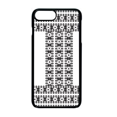 Pattern Background Texture Black Apple iPhone 7 Plus Seamless Case (Black) by Nexatart