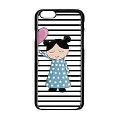Valentines Day Design Apple Iphone 6/6s Black Enamel Case by Valentinaart