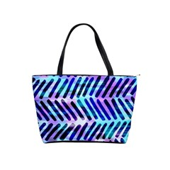 Blue Tribal Chevrons  Shoulder Handbags by KirstenStar