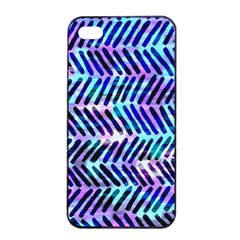 Blue Tribal Chevrons  Apple Iphone 4/4s Seamless Case (black) by KirstenStar