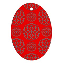 Geometric Circles Seamless Pattern Oval Ornament (two Sides) by Nexatart