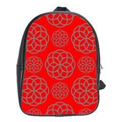 Geometric Circles Seamless Pattern School Bags(large)  by Nexatart