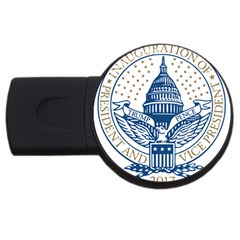 Presidential Inauguration USA Republican President Trump Pence 2017 Logo USB Flash Drive Round (2 GB) by yoursparklingshop