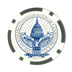 Presidential Inauguration USA Republican President Trump Pence 2017 Logo Poker Chip Card Guard by yoursparklingshop