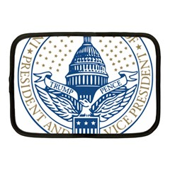 Presidential Inauguration USA Republican President Trump Pence 2017 Logo Netbook Case (Medium)  by yoursparklingshop