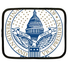 Presidential Inauguration USA Republican President Trump Pence 2017 Logo Netbook Case (Large) by yoursparklingshop
