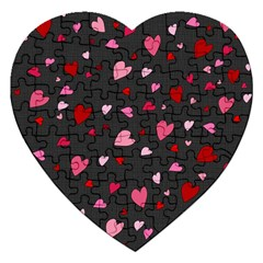 Hearts pattern Jigsaw Puzzle (Heart) by Valentinaart