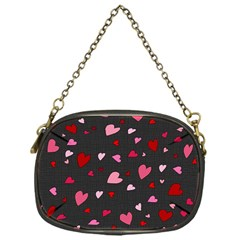 Hearts pattern Chain Purses (One Side)  by Valentinaart