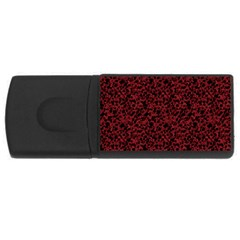 Red Coral Pattern Usb Flash Drive Rectangular (4 Gb) by Valentinaart