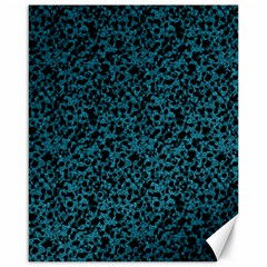 Blue coral pattern Canvas 16  x 20   by Valentinaart