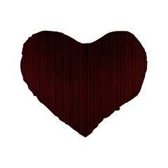 Red Texture Standard 16  Premium Flano Heart Shape Cushions by Valentinaart