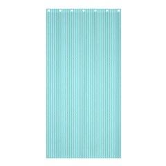 Light Blue Texture Shower Curtain 36  X 72  (stall)  by Valentinaart