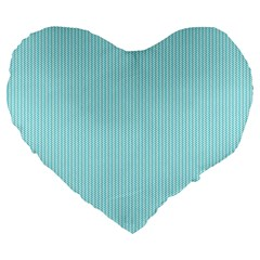 Light Blue Texture Large 19  Premium Heart Shape Cushions by Valentinaart