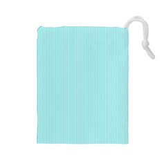 Light Blue Texture Drawstring Pouches (large)  by Valentinaart