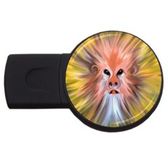 Monster Ghost Horror Face Usb Flash Drive Round (4 Gb) by Nexatart