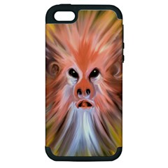 Monster Ghost Horror Face Apple Iphone 5 Hardshell Case (pc+silicone) by Nexatart