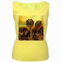 Abstract Digital Art Women s Yellow Tank Top by Nexatart