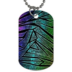 Abstract Background Rainbow Metal Dog Tag (One Side)
