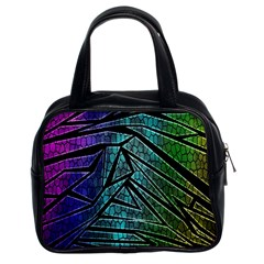 Abstract Background Rainbow Metal Classic Handbags (2 Sides) by Nexatart
