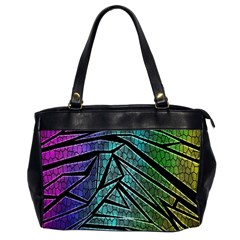 Abstract Background Rainbow Metal Office Handbags (2 Sides)  by Nexatart